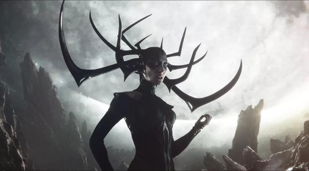 Кейт Бланшетт в образе Хелы в фильме «Тор: Рагнарек»