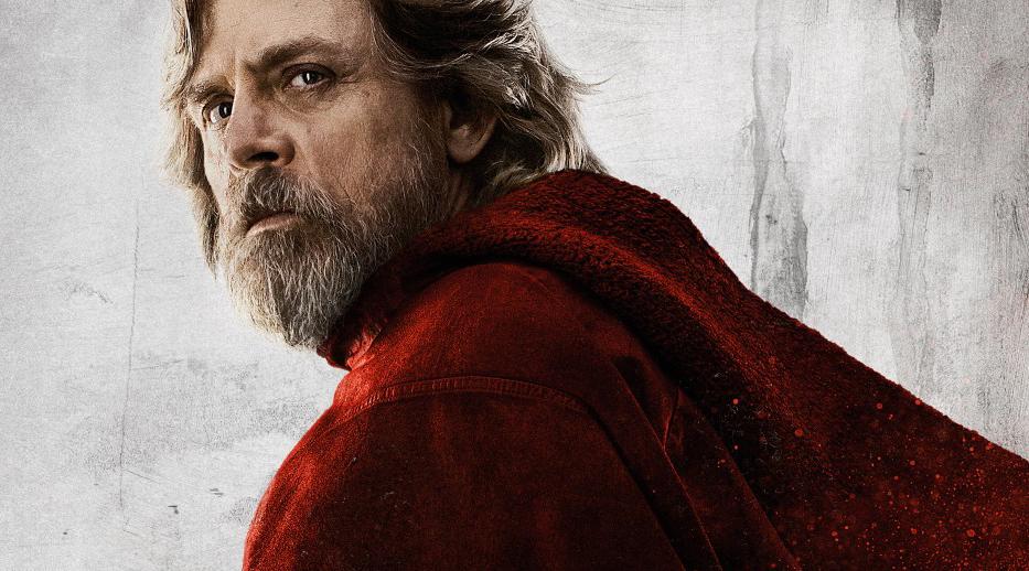Марк Хэмилл в образе Люка Скайуокера на промо-постере к фильму «Звездные войны: Последние джедаи»