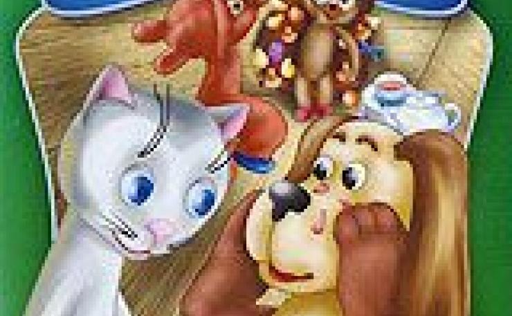кошечка и собачка мыли пол картинки зимнего вечера