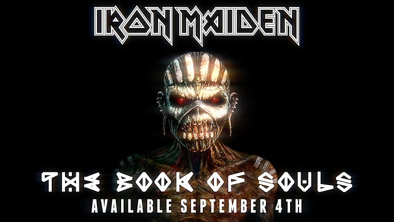 "Фрагмент обложки альбома Iron Maiden ""Book Of Souls"""