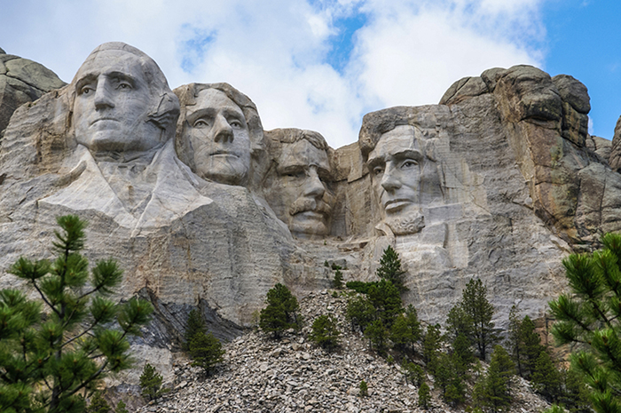 Гора Рашмор: четыре президента