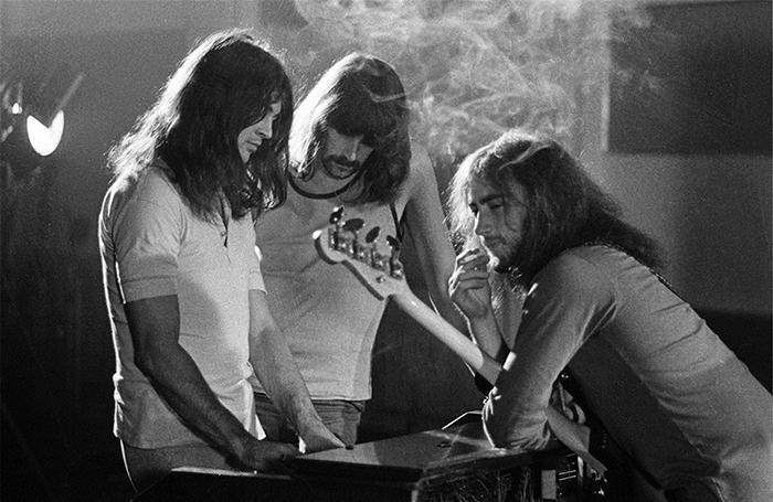 Иен Гиллан, Джон Лорд и Роджер Гловер в студии. Лондон, 1970 г.