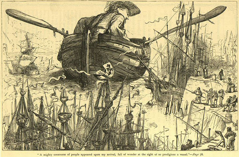 the satire in lilliput in the story of gullivers travels