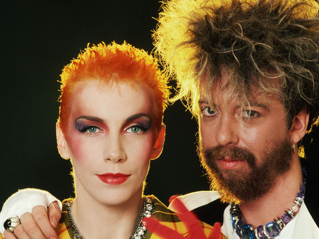 Дуэт Eurythmics: Энни Леннокс и Дэйв Стюарт